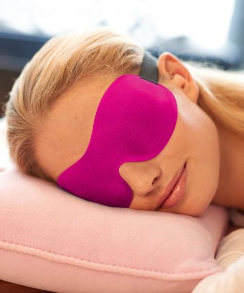 Ohropax Masque de sommeil 3D Rose